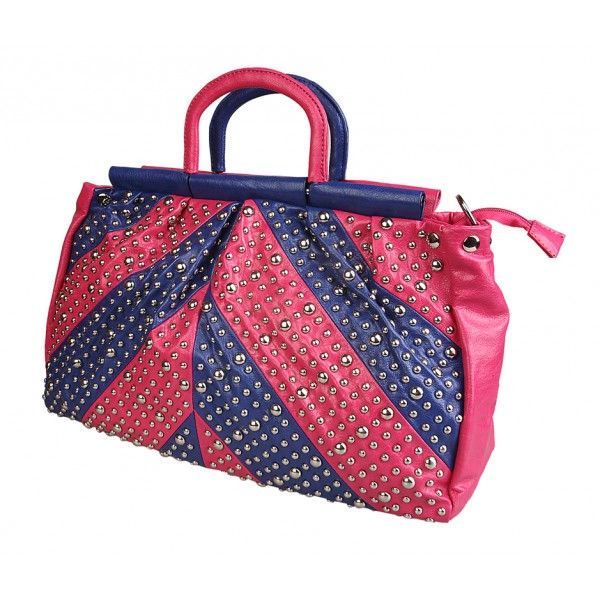 pink-blue-rivet-bag